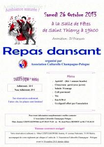 Repas dansant - wieczorek taneczny z kolacja dans Accueil affiche-repas-dansant-26-octobre-2013-212x300